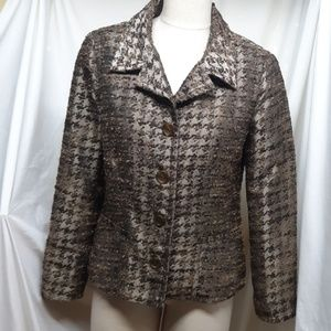 Chico's Women's Taupe/Gold Jacket